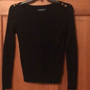 Women's Ralph Lauren petite black sweater